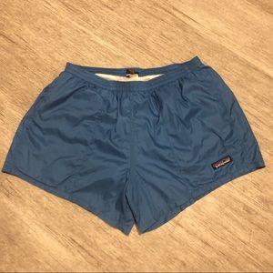 Patagonia athletic shorts blue nylon short medium